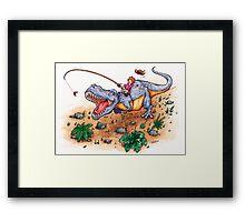 Dino Dash Framed Print