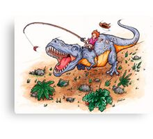 Dino Dash Canvas Print