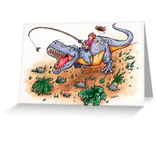 Dino Dash Greeting Card