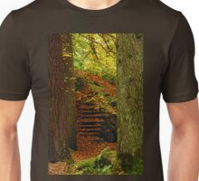 Trunks and Steps... A way through the woods. Unisex T-Shirt