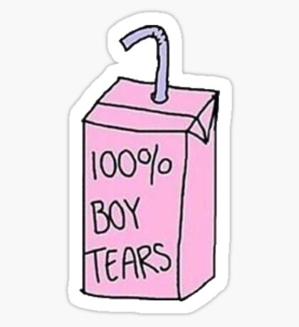 """100% Boy Tears"" tumblr sticker Sticker"