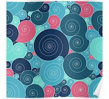 Spiral seamless vector pattern Poster
