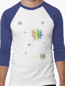 LGBT Snow Flakes Men's Baseball ¾ T-Shirt