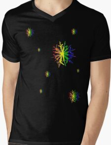 LGBT Snow Flakes Mens V-Neck T-Shirt