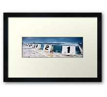 Merewether Baths - Front Blocks Framed Print