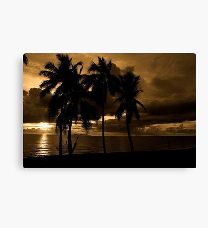 Fiji Sunset Canvas Print