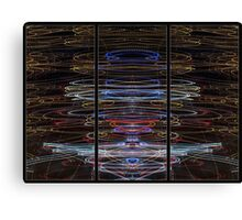 Light Painting Abstract Triptych #4 Canvas Print