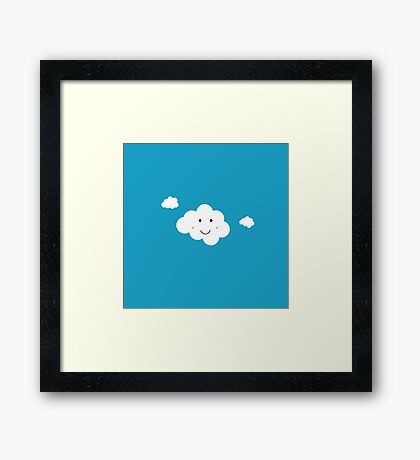 Happy Cloud Framed Print