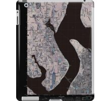 USGS Topo Map Washington State WA Gig Harbor 20110422 TM Inverted iPad Case/Skin