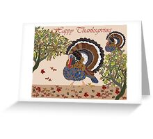Thanksgiving Turkey with Beautiful Fall Colors Greeting Card