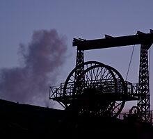 Mining Works Silhouette by Andy Merrett