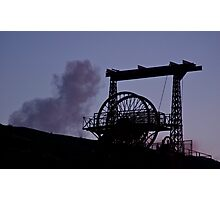 Mining Works Silhouette Photographic Print