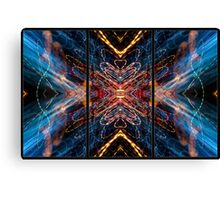 Light Painting Abstract Triptych #5 Canvas Print
