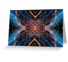 Light Painting Abstract Triptych #5 Greeting Card