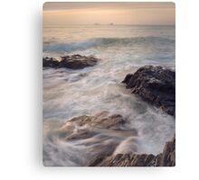 A Cornish Summers Sunset at Treyarnon Bay. Canvas Print