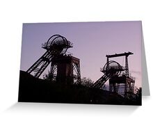 Mining Works Double Greeting Card