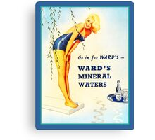 Wards Mineral Water Swimsuit Vintage Advertisement Canvas Print