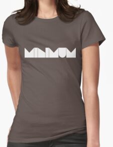 MINIMUM - White Ink Womens Fitted T-Shirt
