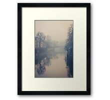 Ljubljana in the fog Framed Print