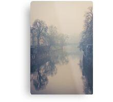 Ljubljana in the fog Metal Print