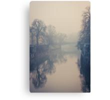 Ljubljana in the fog Canvas Print