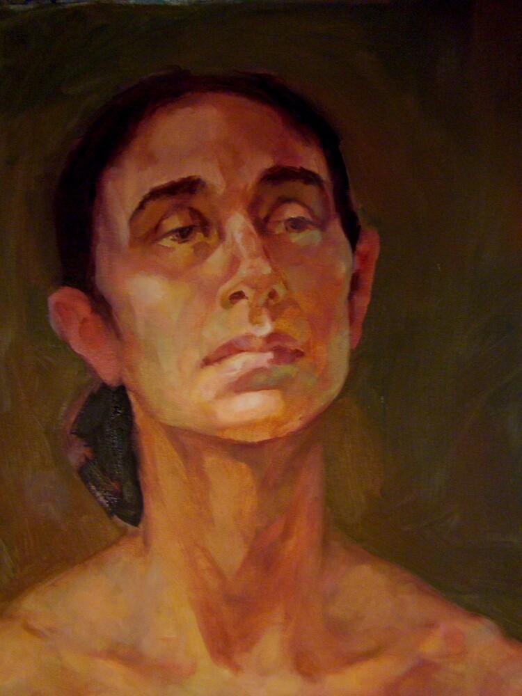 Portrait of a dancer 2 by Kathylowe