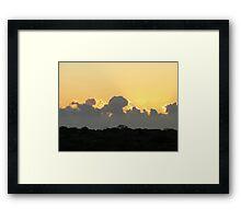 Sunset via Denham Western Australia Framed Print