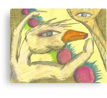 trumpet billed finger wing Canvas Print