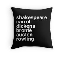 British Writers Throw Pillow