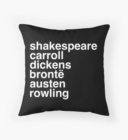 British Writers Throw Pillow
