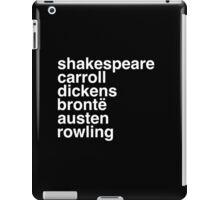 British Writers iPad Case/Skin