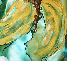 On the Wings of an Angel - Encaustic Painting by Loreen Finn
