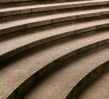 Curved Stone Steps by Andy Merrett