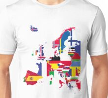 Europe flags black Unisex T-Shirt