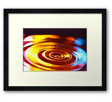 Physics of Water 5 Framed Print
