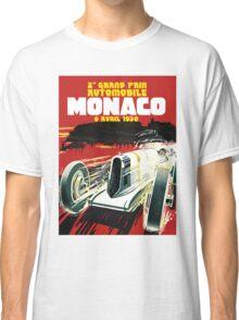 Monaco Motor Racing Vintage Travel Advertisement Classic T-Shirt