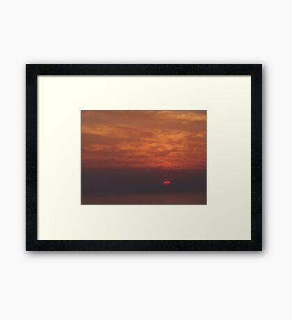 Sunset and Clouds - Puesta del Sol y Nubes Framed Print