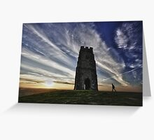 Sunset At Glastonbury Tor, Somerset, UK Greeting Card