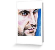 Richard Armitage, blue eyes Greeting Card