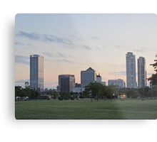 Daylight Milwaukee Skyline Metal Print