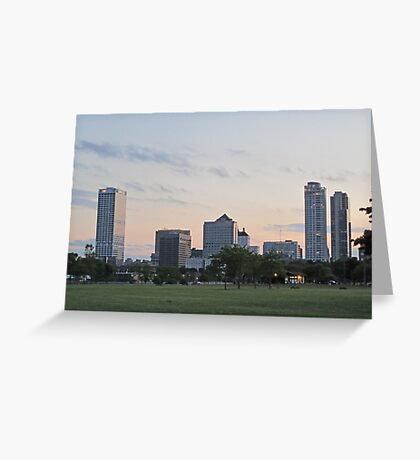 Daylight Milwaukee Skyline Greeting Card
