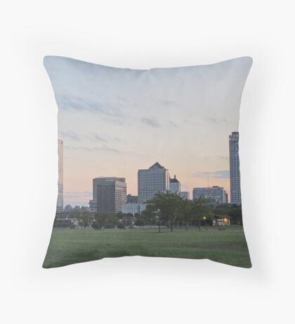Daylight Milwaukee Skyline Throw Pillow