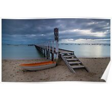 The Baths Jetty Sorrento Front Beach Poster