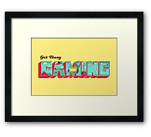 Gaming Framed Print