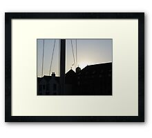 SUNSET THROUGH THE RIGGING Framed Print