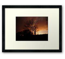 Evening Fire Sunset Framed Print