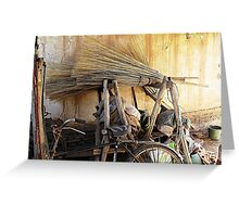 Brooms & Bicycle  Greeting Card