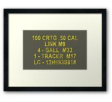 50 Cal Ammo Can Framed Print