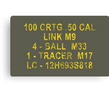 50 Cal Ammo Can Canvas Print