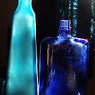 Blue Bottles - Botellas Azules by Bernhard Matejka